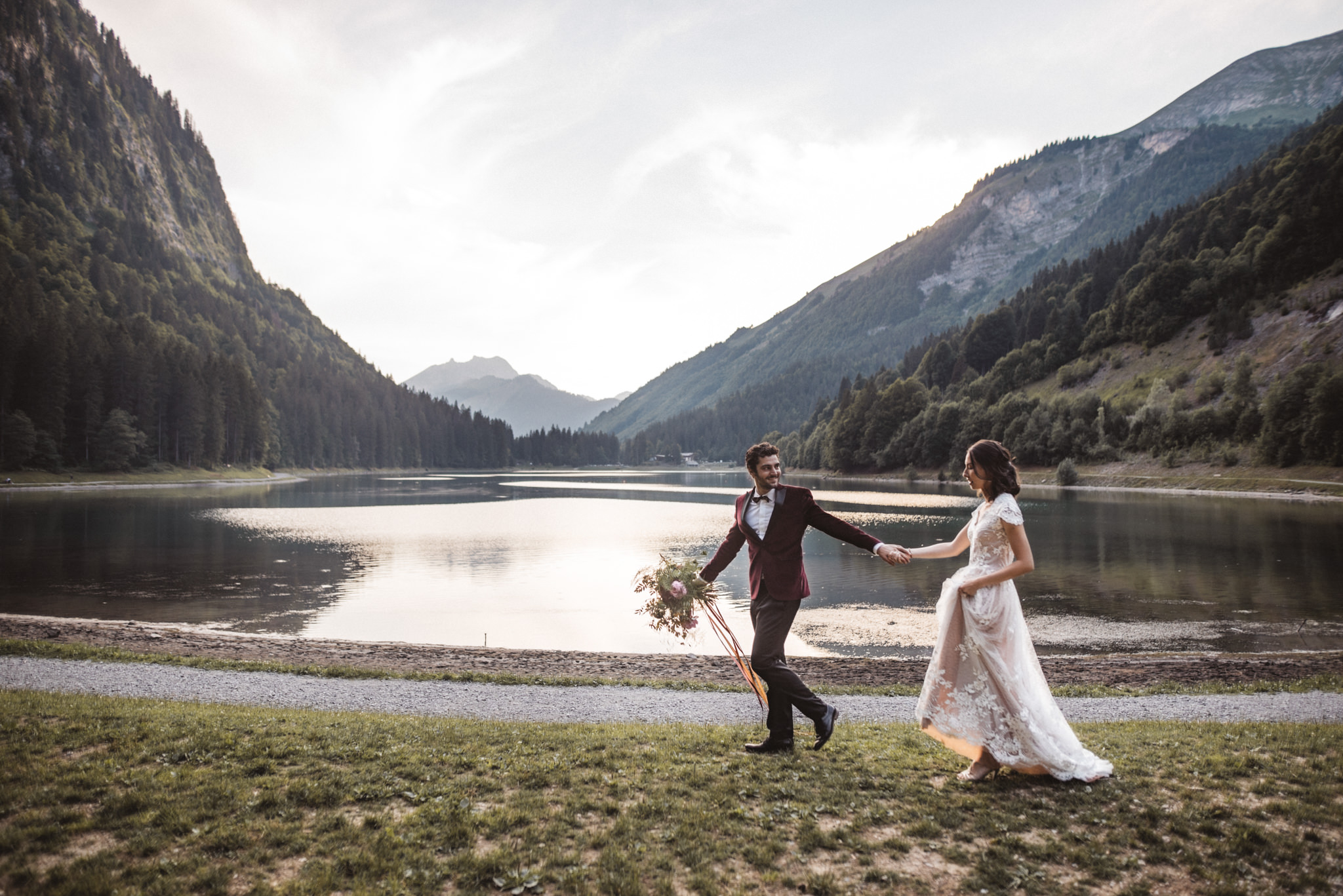 wedding in the french alps