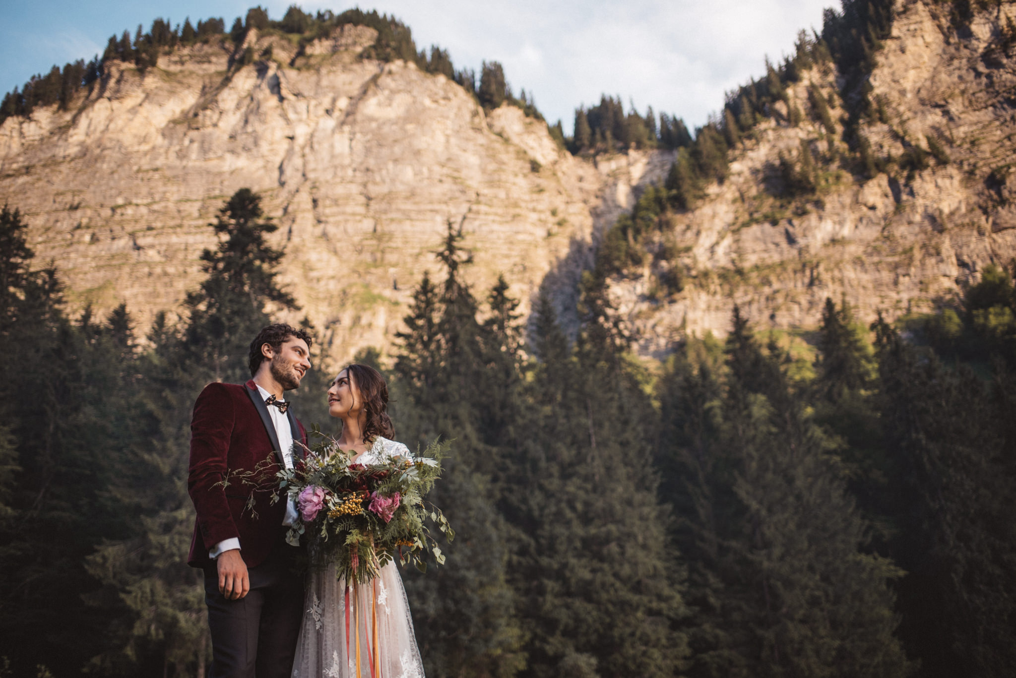 Wedding  planning in the French Alps