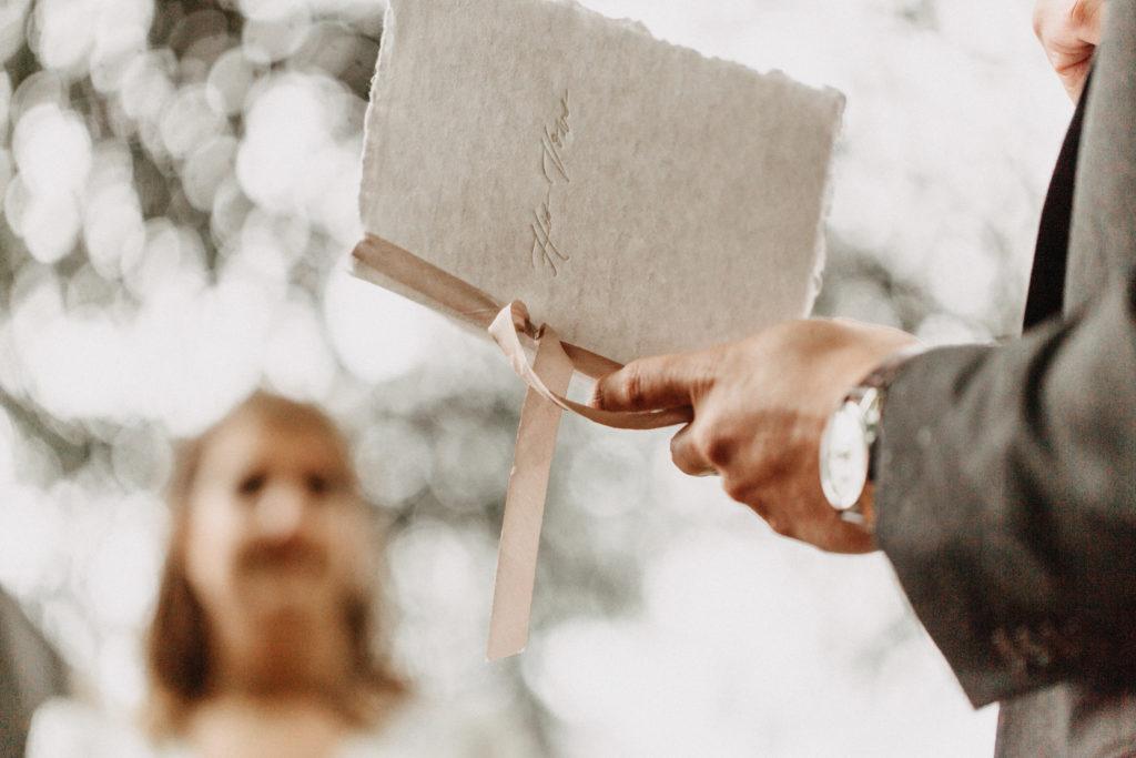 wedding vows paper