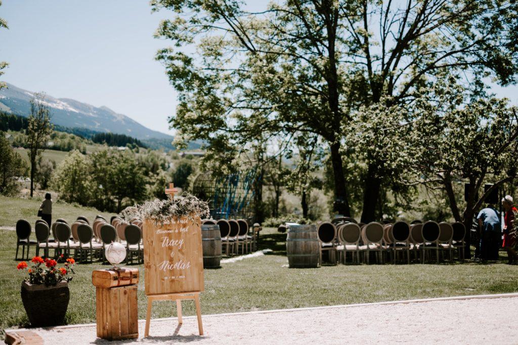 outdoor ceremony international wedding